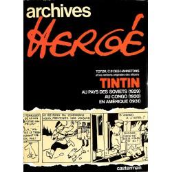 Bandes dessinées Archives Hergé 01