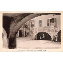 ABAO 74 - Haute Savoie [74] Annecy - Les Arcades de la rue Ste-Claire.