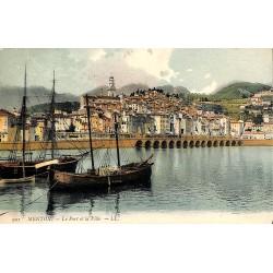 06 - Alpes Maritimes [06] Menton - Le Port et la Ville.