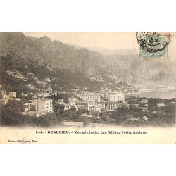 ABAO 06 - Alpes Maritimes [06] Beaulieu-sur-Mer - Vue générale, Les Villas, Petite Afrique.