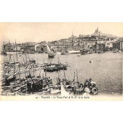 ABAO 13 - Bouches-du-Rhône [13] Marseille - Le Vieux Port et N.D. de la Garde.