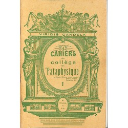ABAO 1900- Cahiers du Collège de 'Pataphysique 01