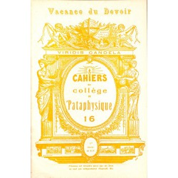 ABAO 1900- Cahiers du Collège de 'Pataphysique 16