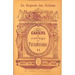 1900- Cahiers du Collège de 'Pataphysique 11