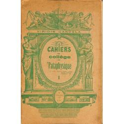 1900- Cahiers du Collège de 'Pataphysique 01
