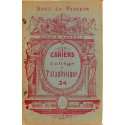 ABAO 1900- Cahiers du Collège de 'Pataphysique 24
