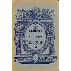 ABAO 1900- Cahiers du Collège de 'Pataphysique 02
