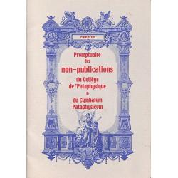 1900- Promptuaire des non-publications du Collège de 'Pataphysique et du Cymbalum Pataphysicum