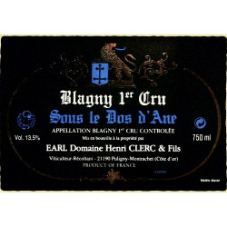 ABAO Etiquettes de vin Blagny 1er Cru - Sous le Dos d'Âne