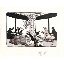 ABAO Originaux P.K. - Dessin de presse original