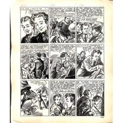 Originaux Dupuy-Franck - Les Joyeux jumeaux et leur scooter. Planche originale 16 [5]
