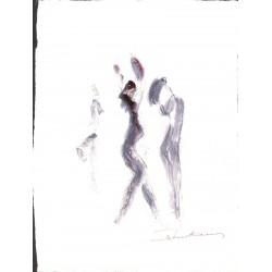 ABAO Originaux Keustermans (Lode) - Danseuses. Aquarelle sur papier.