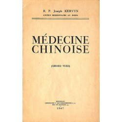 ABAO 1900- Kervyn (Joseph) - Médecine chinoise.