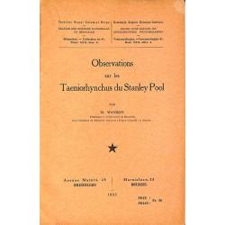 ABAO 1900- Wanson (M.) - Observations sur les Taeniorhynchus du Stanley Pool