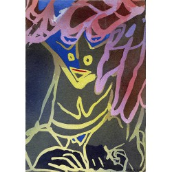 Originaux Nihoul (Charles) - Acrylique sur carton.