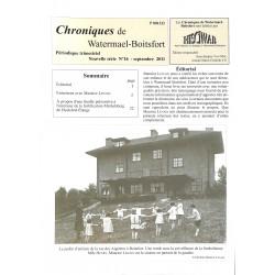 Journaux et périodiques Chroniques de Watermael-Boitsfort. 2011/09. N°16.
