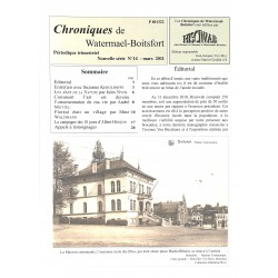 Journaux et périodiques Chroniques de Watermael-Boitsfort. 2011/03. N°14.