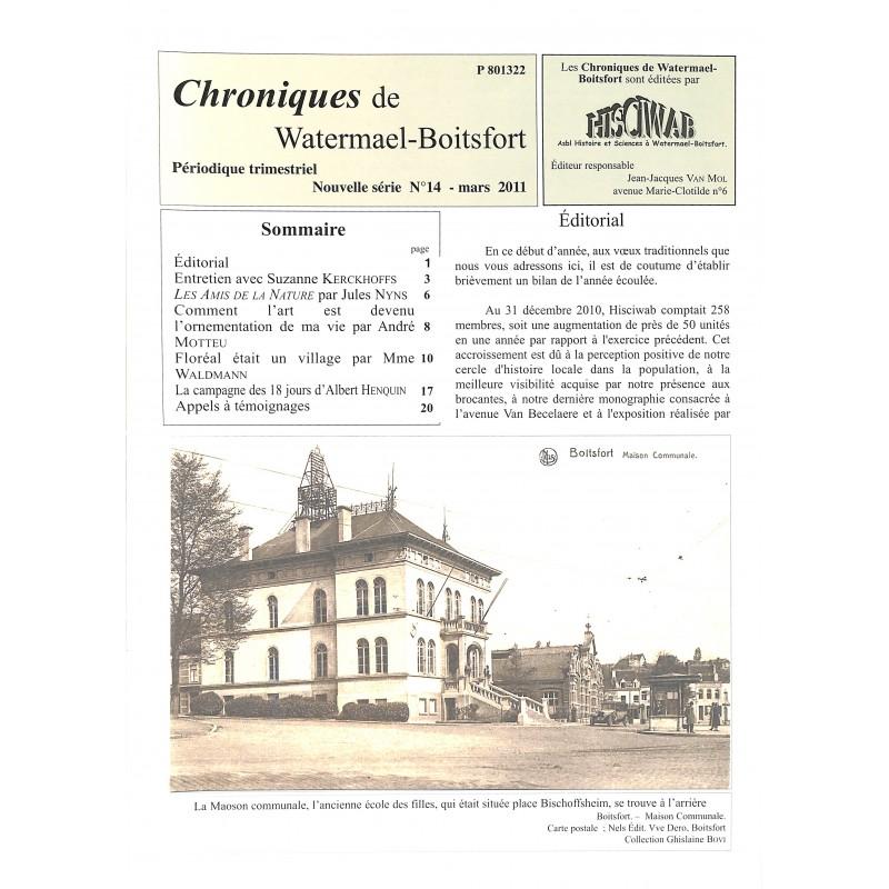 ABAO Journaux et périodiques Chroniques de Watermael-Boitsfort. 2011/03. N°14.