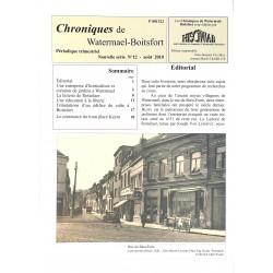 Journaux et périodiques Chroniques de Watermael-Boitsfort. 2010/08. N°12.