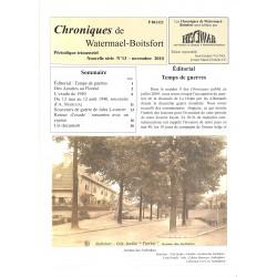 ABAO Journaux et périodiques Chroniques de Watermael-Boitsfort. 2010/11. N°13.
