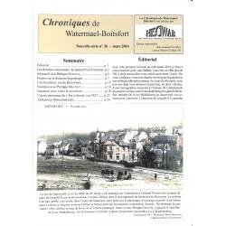 ABAO Journaux et périodiques Chroniques de Watermael-Boitsfort. 2014/03. N°26.