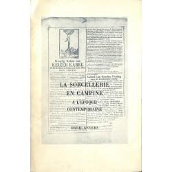 ABAO 1900- Gevers (Marie) - La Sorcellerie en Campine. Avec envoi à Marie-Thérèse Bodart.