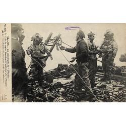 ABAO 62 - Pas-de-Calais [62] Calais - La Catastrophe du Pluviôse. Pendant la visite du major Savidan