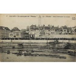 ABAO 62 - Pas-de-Calais [62] Calais - La Catastrophe du Pluviôse. Le Pluviose dans l'avant-port de Calais.
