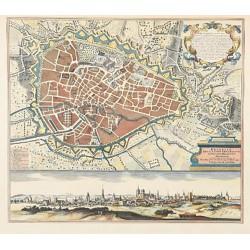 Cartographie [Belgique - Bruxelles] Seutter (Matthäus) - Plan de Bruxelles, vers 1730.