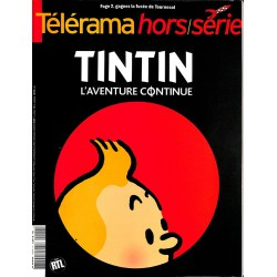 ABAO Bandes dessinées [Hergé] Télérama hors-série - Tintin, l'aventure continue.