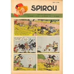 ABAO Bandes dessinées Spirou 1951/02/22 n°671