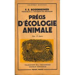 1900- Bodenheimer (F.S.) - Précis d'écologie animale.