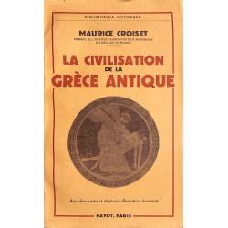 ABAO 1900- Croiset (Maurice) - La Civilisation de la Grèce antique.