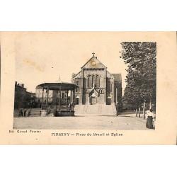 ABAO 42 - Loire [42] Firminy - Place du Breuil et Eglise.