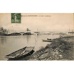 ABAO 42 - Loire [42] Andrézieux - Environs de Saint-Etienne. La Loire à Andrézieux.