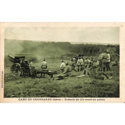 ABAO 38 - Isère [38] Chambaran - Camp de Chambaran. Batterie de 155 court en action.