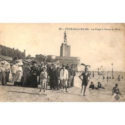 17 - Charente-Maritime [17] Fouras-les-Bains - La Plage à l'heure du bain.