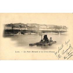 69 - Rhône [69] Lyon - Le pont Morand et la Croix-Rousse.