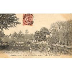ABAO 45 - Loiret [45] Chuelles - Rue de Courtenay, prise de Jardin de la Sablonnière.