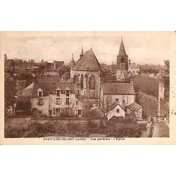 ABAO 45 - Loiret [45] Châtillon-Coligny - Vue générale. L'Eglise.