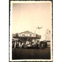 Flandre occidentale Ostende - Photographie du Carrousel. Pâques 1955.