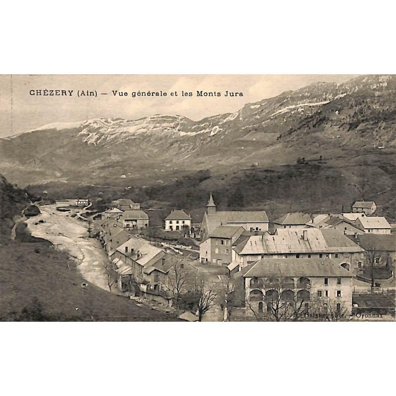 ABAO 01 - Ain [01] Chézery - Vue générale et les Monts Jura.