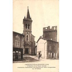 ABAO 01 - Ain [01] Ambérieux-en-Dombes - L'Eglise et la Tour carrée.