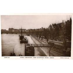 Royaume-Uni London - Thames Embankment from Blackfriars Bridge.