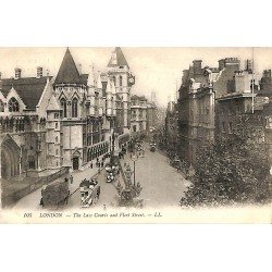 Royaume-Uni London - The law Courts and Fleet Street.