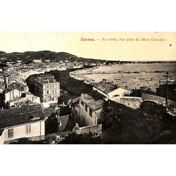 ABAO 06 - Alpes Maritimes [06] Cannes - Le Cours, vue prise du Mont Chevalier.