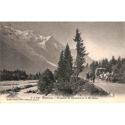 ABAO 74 - Haute Savoie [74] Chamonix - Diligence du Chatelard et le Mont Blanc.