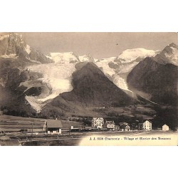 ABAO 74 - Haute Savoie [74] Chamonix - Village et Glacier des Bossons.