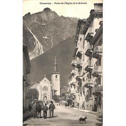 ABAO 74 - Haute Savoie [74] Chamonix - Place de l'Eglise et le Brévent.