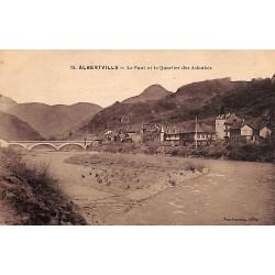 ABAO 73 - Savoie [73] Albertville - Le Pont et le Quartier des Adoubes.